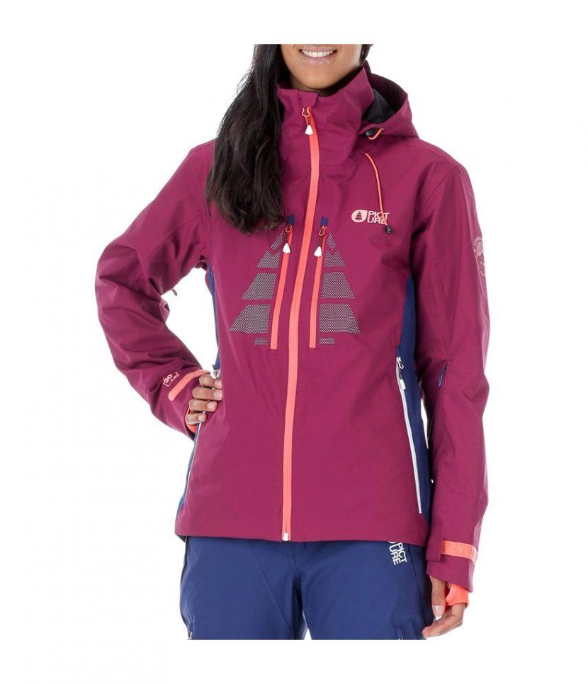 Picture Great Ski Jacket- Burgundy/Dark Blue