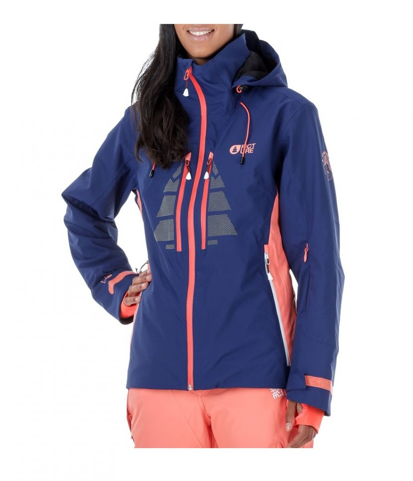 Picture Great Ski Jacket-Dark Blue/Coral