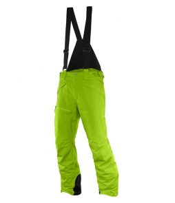 Salomon Chillout Bib Ski Pant-Granny Green