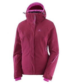Salomon Brilliant Ski Jacket-Beet Red