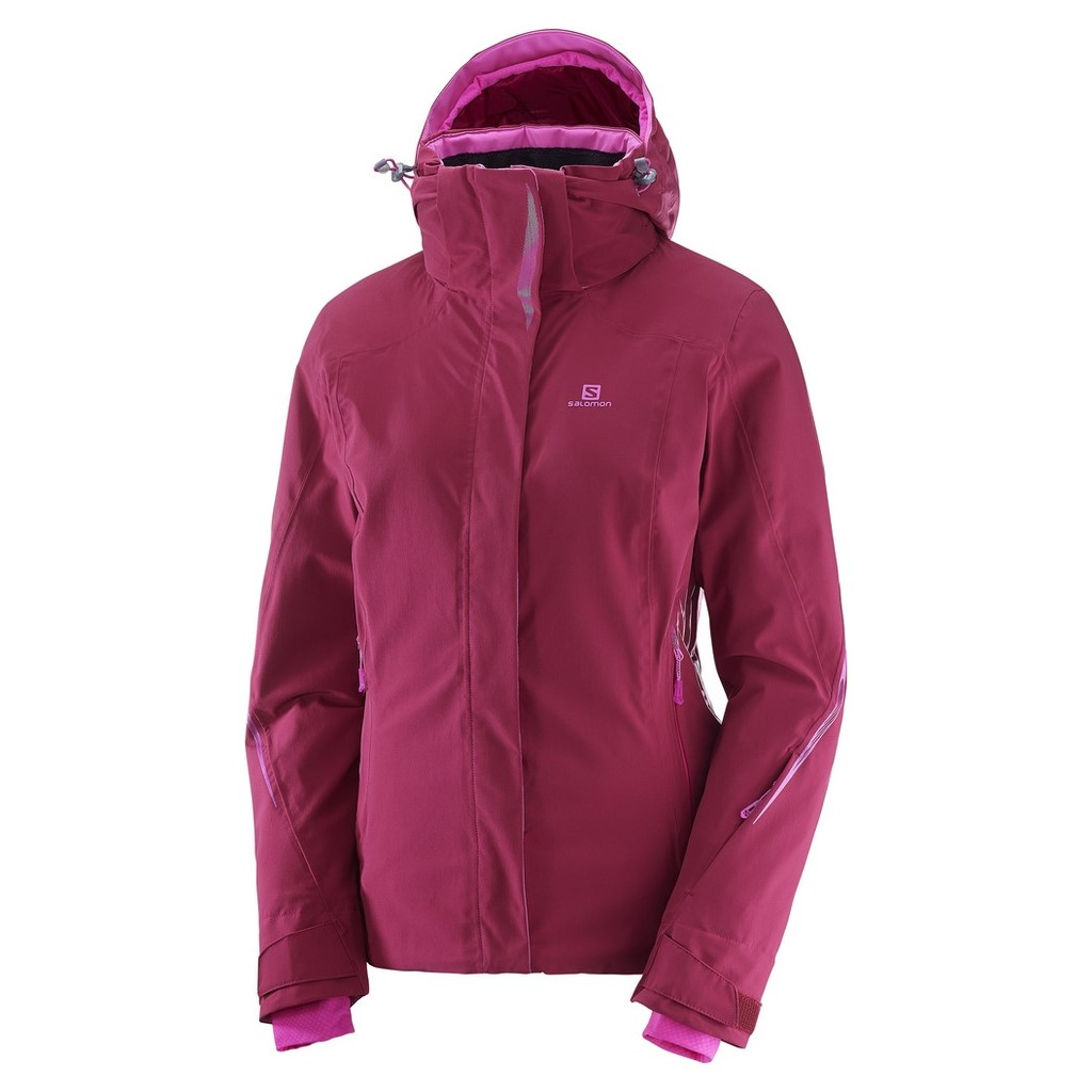 ada3693d7 Salomon Brilliant Ski Jacket-Beet Red - Paul Reader Snow Sports