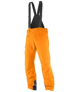 Salomon Chillout Bib Ski Pant-Vivid Orange