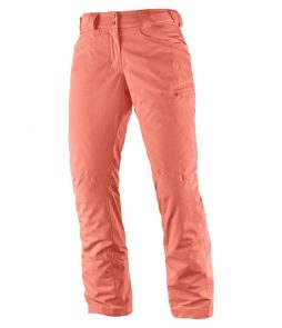 Salomon Fantasy Ski Pant-Fluo Coral Heather