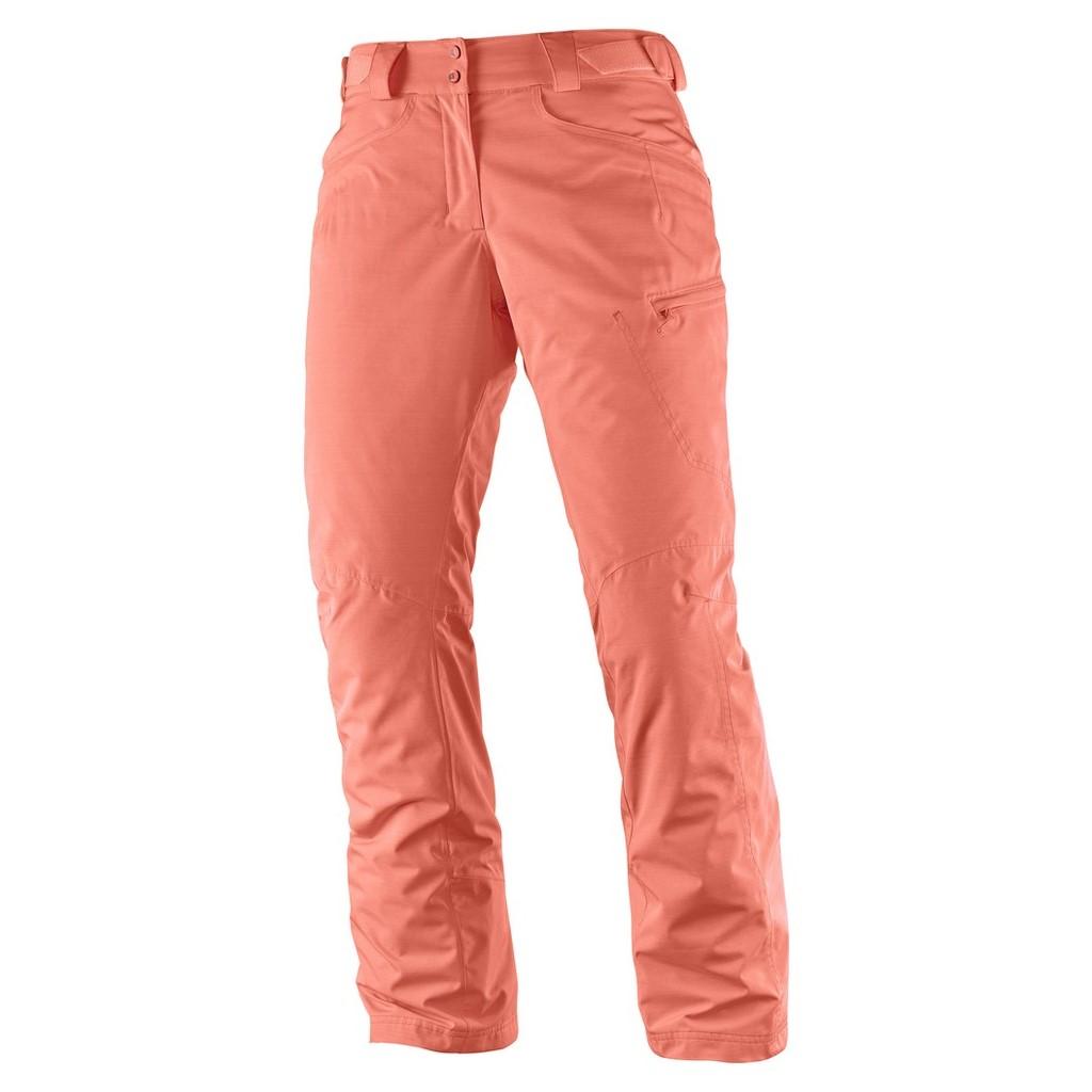 411417702f5a Salomon Fantasy Ski Pant-Fluo Coral Heather - Paul Reader Snow Sports