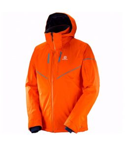 Salomon Stormrace Ski Jacket-Vivid Orange