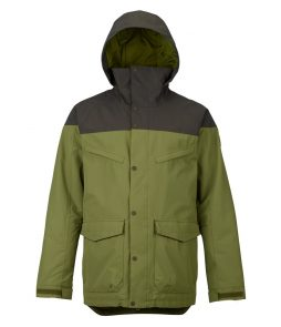 Burton Breach Snowboarding Jacket-Forest Night Olive Branch