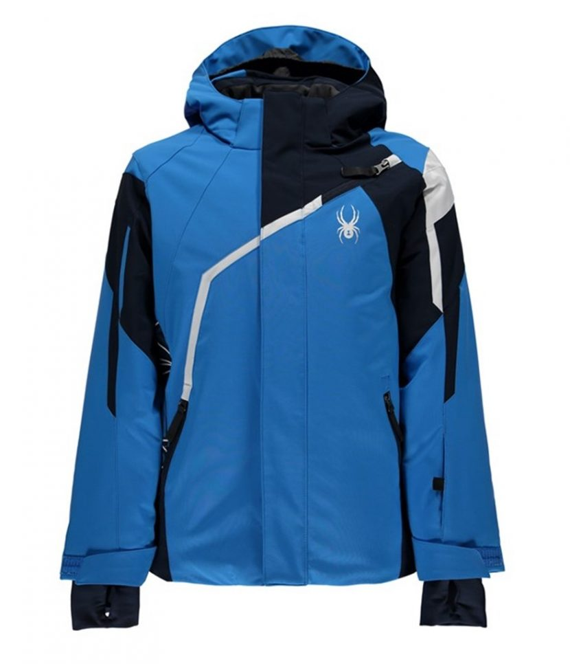 Spyder Challenger Ski Jacket-French Blue Frontier White