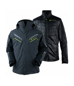 Obermeyer Trilogy Prime System Ski Jacket-Ebony