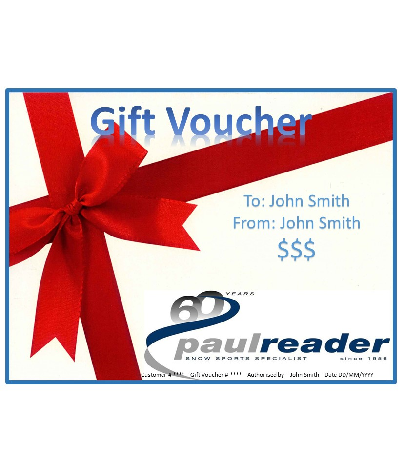 Paul Reader Snowsports Gift Voucher