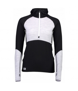 Mons Royale Bella Tech Hood-Black Grey Marl