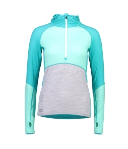 Mons Royale Bella Tech Hood-Tropicana Peppermint Grey Marl
