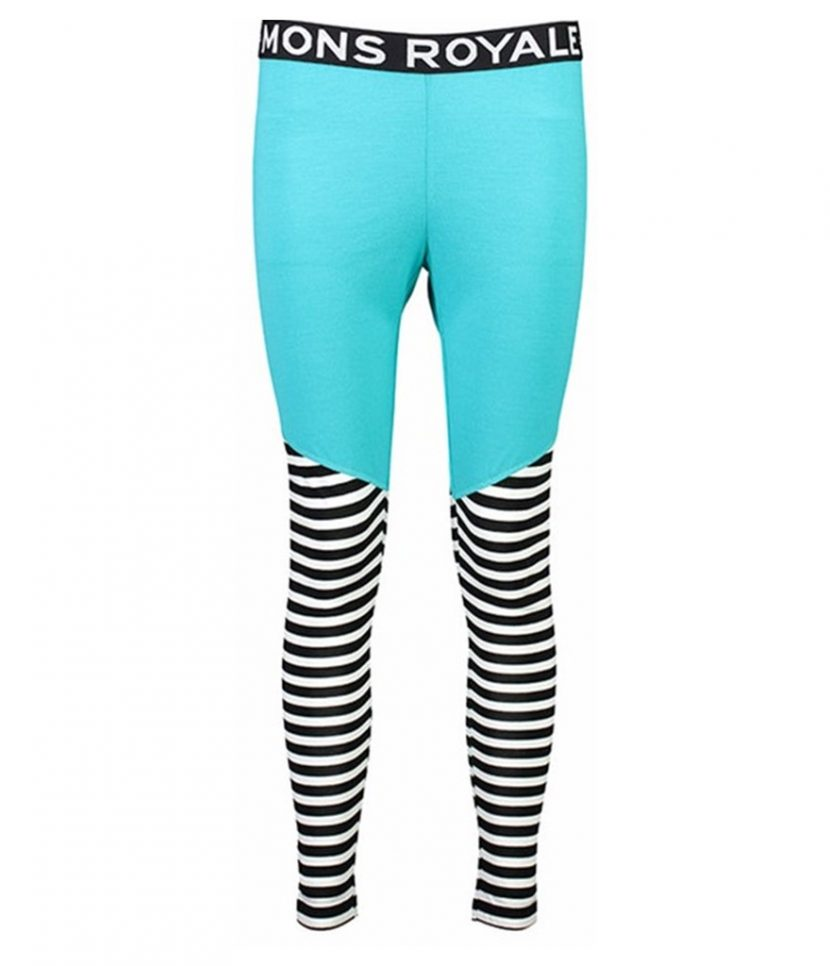 Mons Royale Christy Legging-Tropicana Thick Stripe