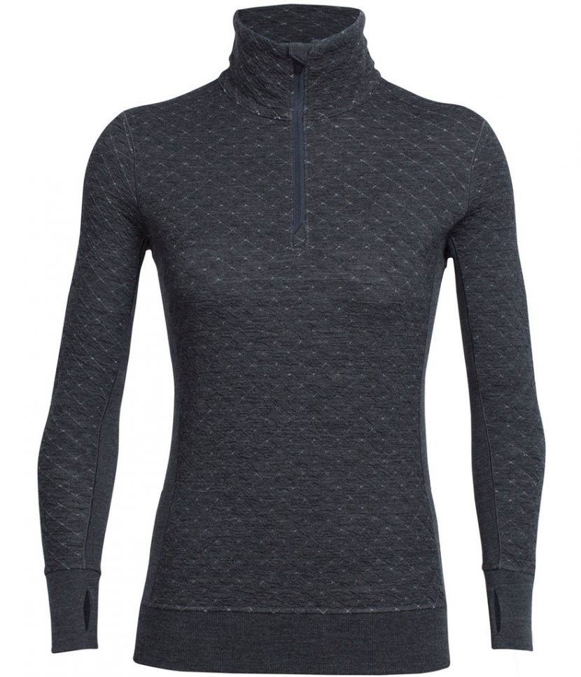 Icebreaker Affinity Thermo LS Half Zip-Jet Heather