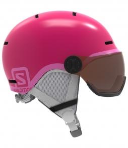 Salomon Grom Visor Helmet-Pink