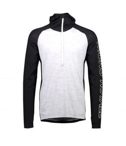 Mons Royale Temple Tech Hood-Black Grey Marl