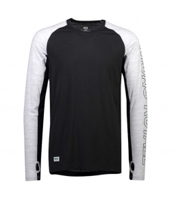 Mons Royale Temple Tech LS-Black Grey Marl