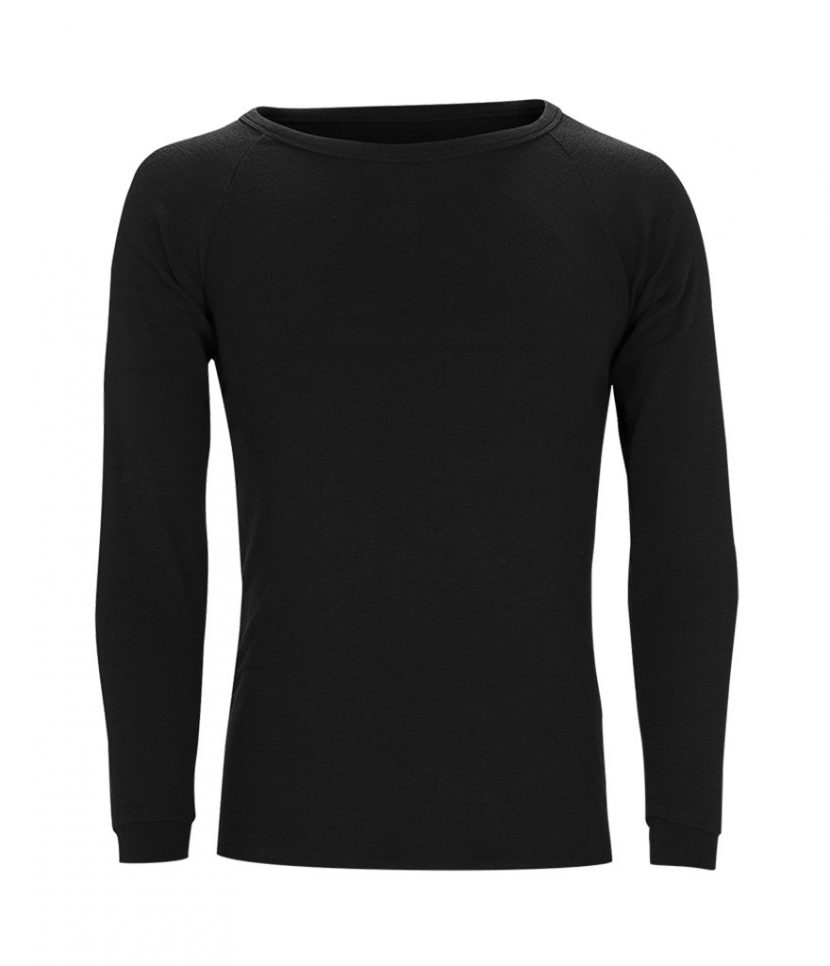 Sherpa Unisex Merino Wool Top-Black