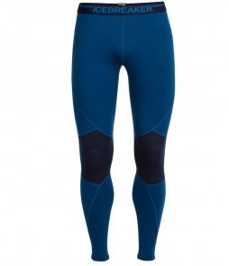 Icebreaker Men's Winter Zone Leggings-Largo Midnight Navy