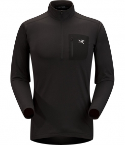 Arc'teryx Rho LT Zip Neck Mid-layer-Black