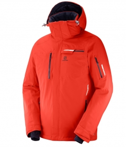Salomon Brilliant Ski Jacket-Fiery Red