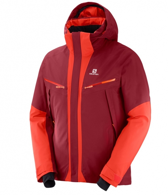 Salomon Icecool Jacket-Biking Red · Mens Jackets e2bd4babb61
