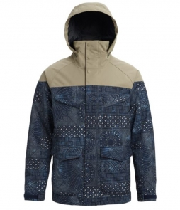 Burton Breach Jacket-Indigo Resist Hawk