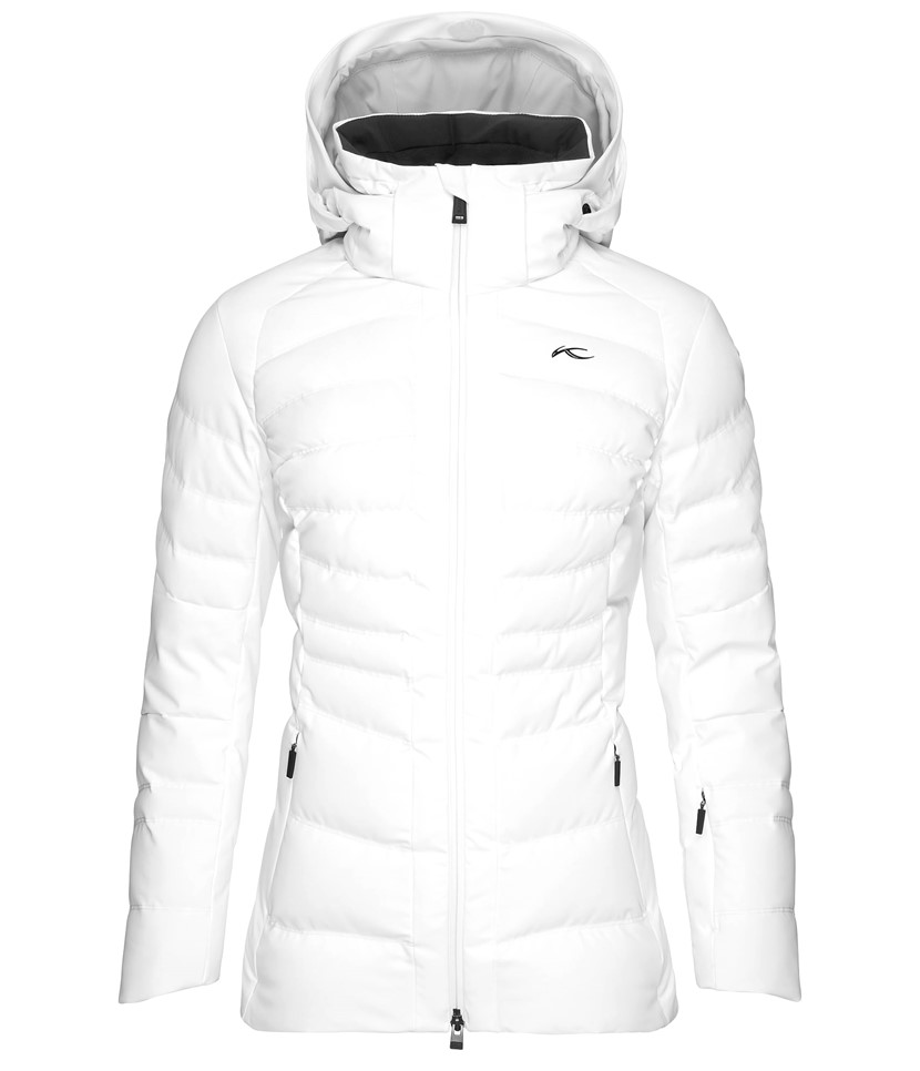 8c1a4d856d Kjus Duana Ski Jacket-White - Paul Reader Snow Sports