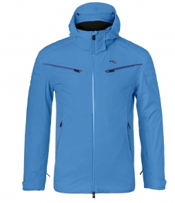 Kjus Formula Mens Ski Jacket-Aquamarine Blue