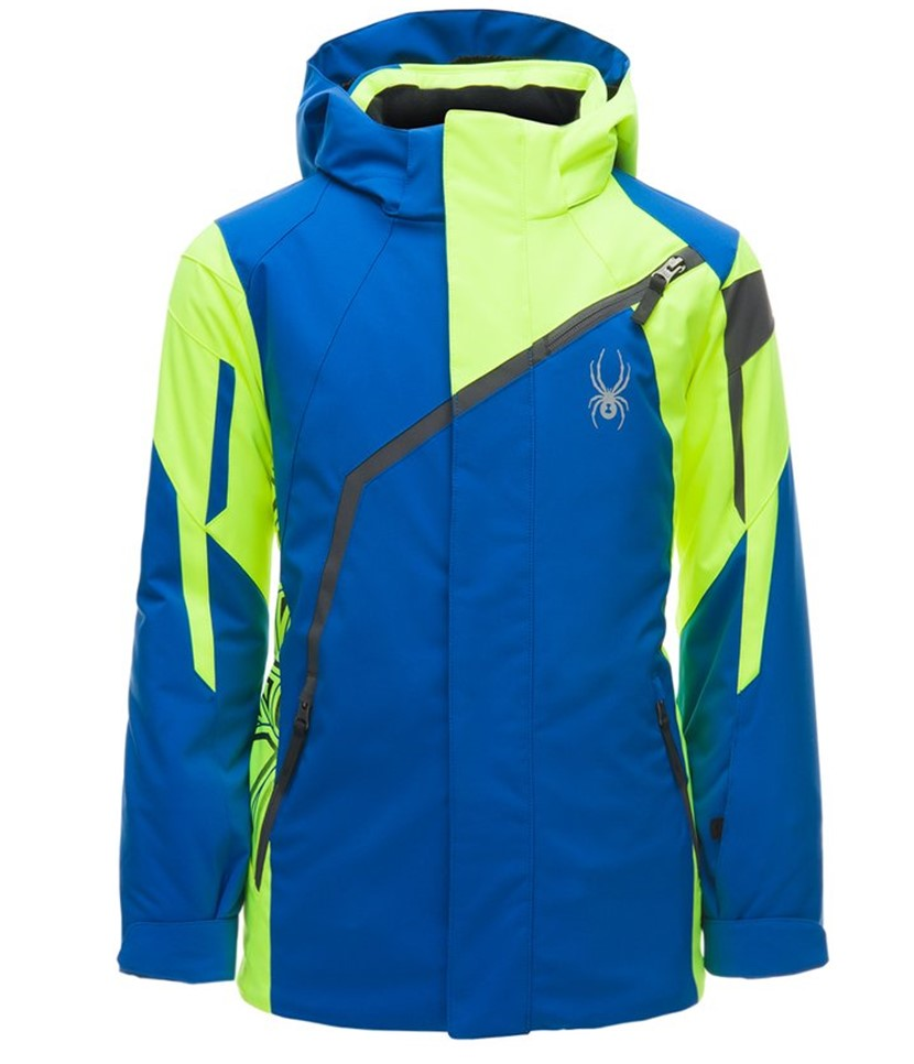 Spyder Challenger Ski Jacket-Yellow Turkish Sea