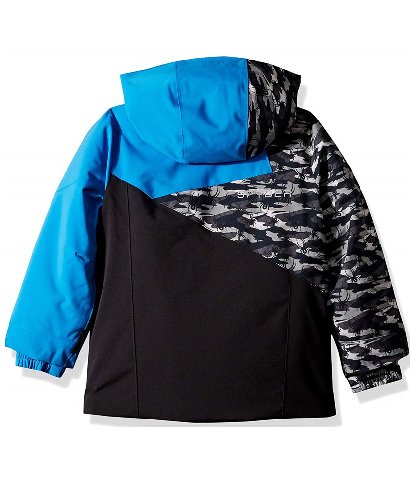 Spyder Mini Ambush Ski Jacket-Black Blue 2.