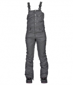Bonfire Evergreen Stretch Denim Bib Pant-Black