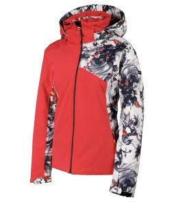 Karbon Amber Jacket-Flower Red