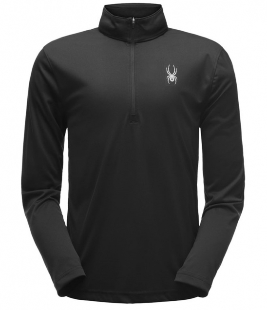 Spyder Limitless Solid Zip Mid-layer-Black