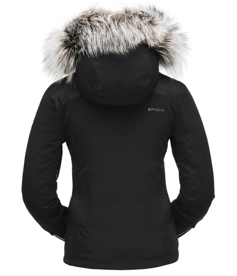 Spyder Amour Real Fur Ski Jacket-Black 2.