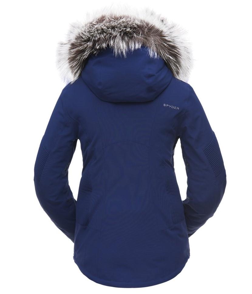 Spyder Diabla Real Fur Ski Jacket-Blue Depths 2.