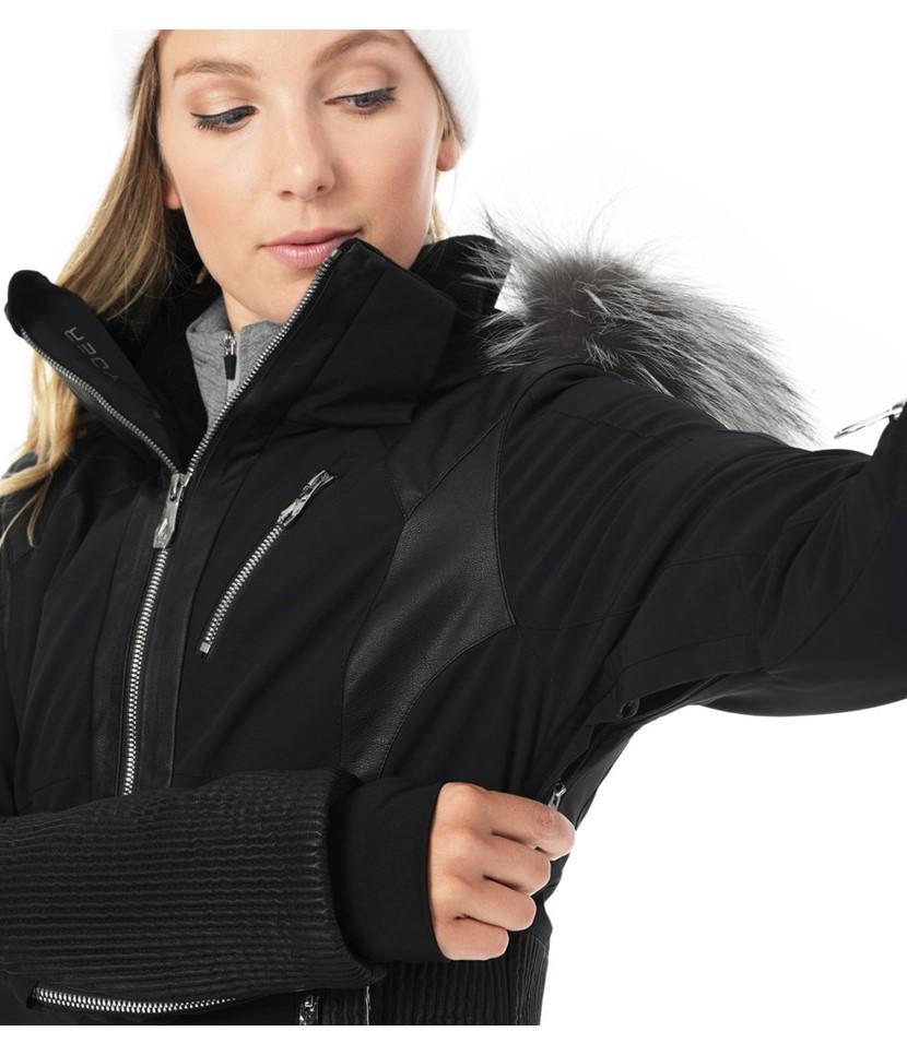 Spyder Amour Real Fur Ski Jacket-Black 3.