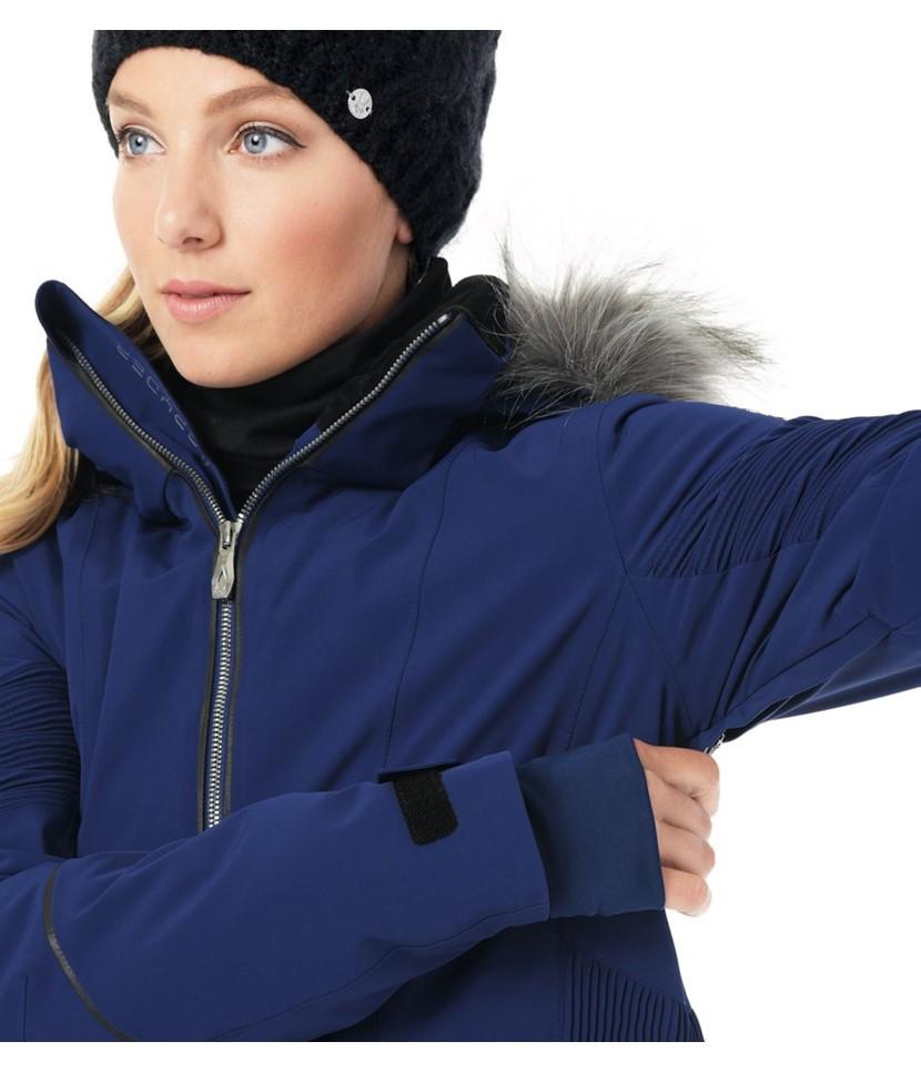 Spyder Diabla Real Fur Ski Jacket-Blue Depths 3.