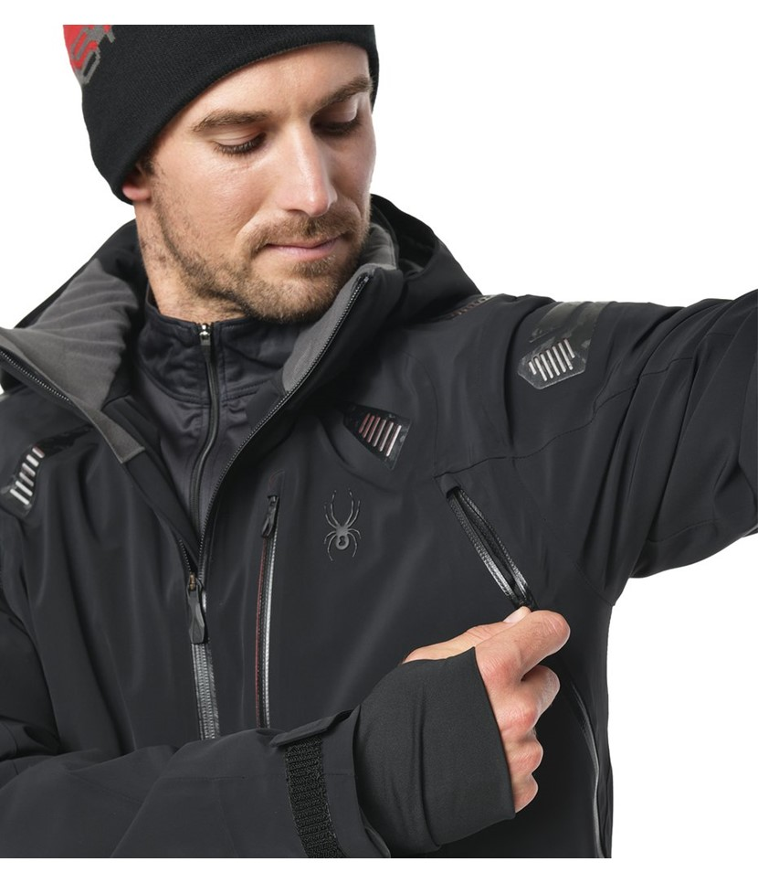 Spyder Pinnacle Ski Jacket-Black 3.