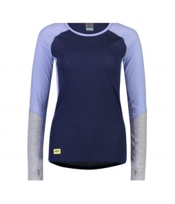 Mons Royale Bella Tech LS Navy Blue Fog