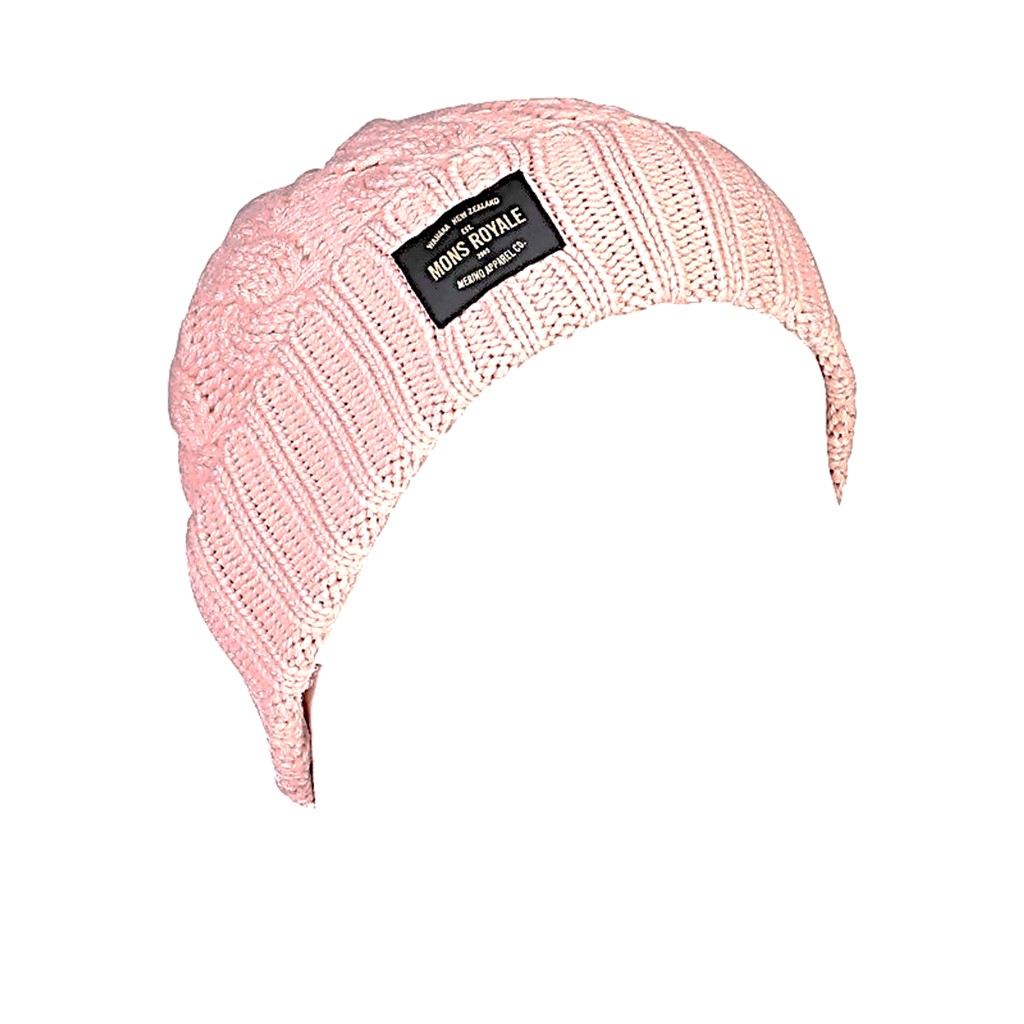 Mons Royale Rope Tow Beanie-Rosewater