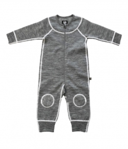 XTM Infant Merino Wool Onesie-Grey