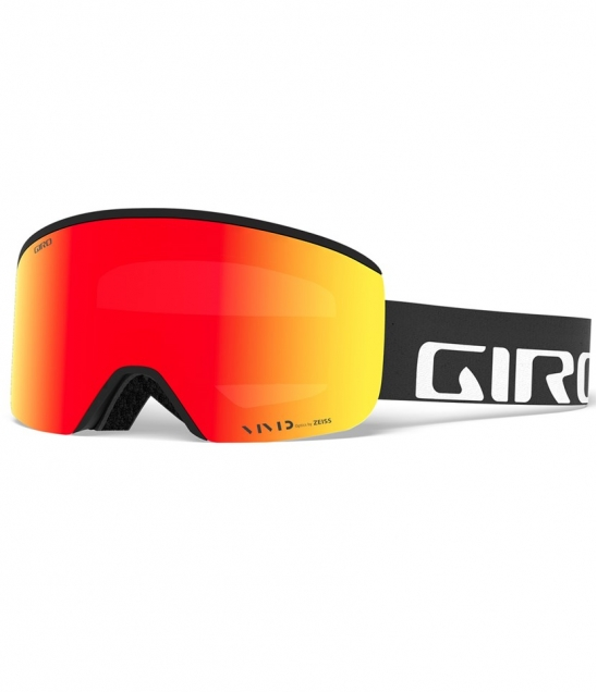 Giro Axis AF Black Wordmark w Vivid Ember w Asian Fit Available