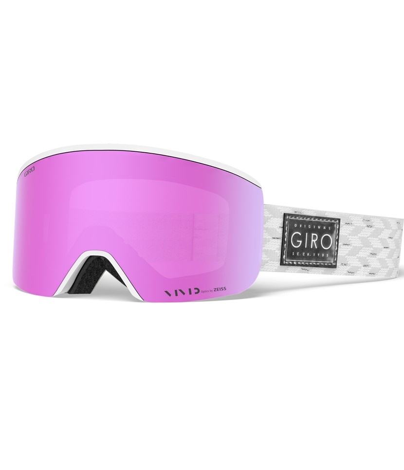 Giro Ella White Silver Shimmer Vivid Pink