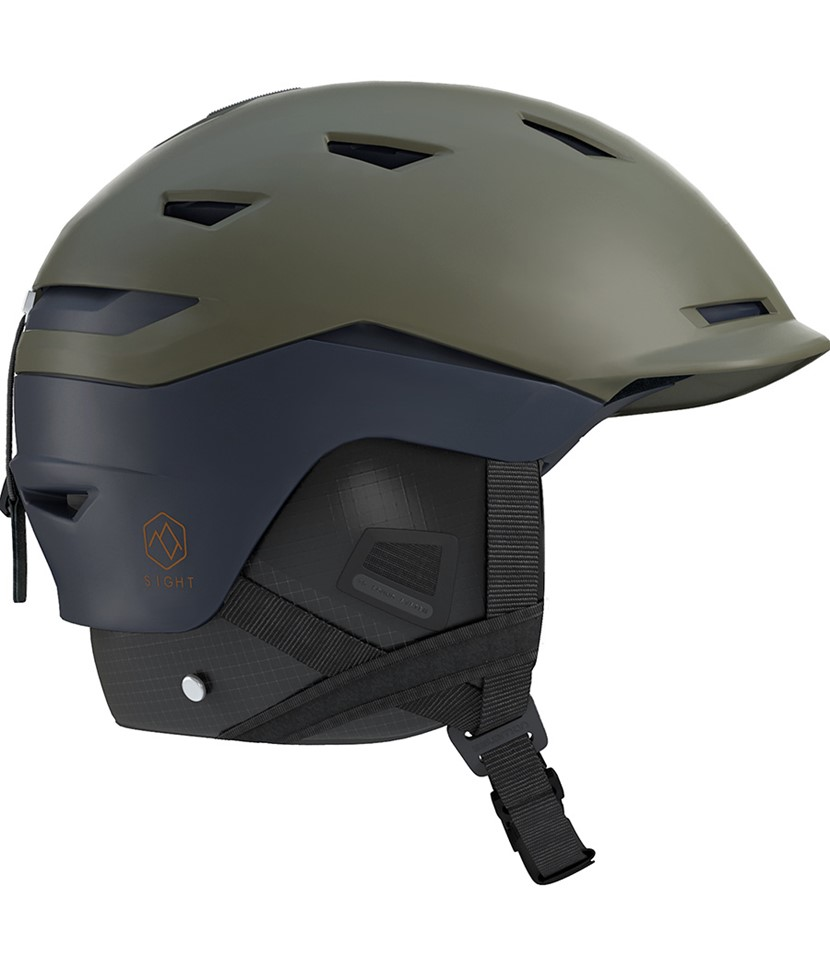 Salomon Sight Helmet Olive Night Dress Blue
