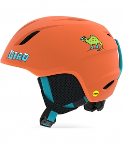 Giro Launch MIPS Helmet-Deep Orange Dino