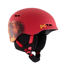 Anon Burner Black Kids Helmet Tinfoilhat-Red