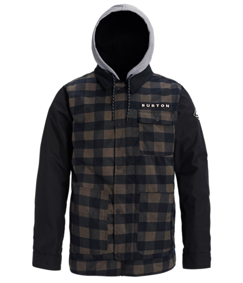 Burton Dunmore Jacket-Black Heather Buff