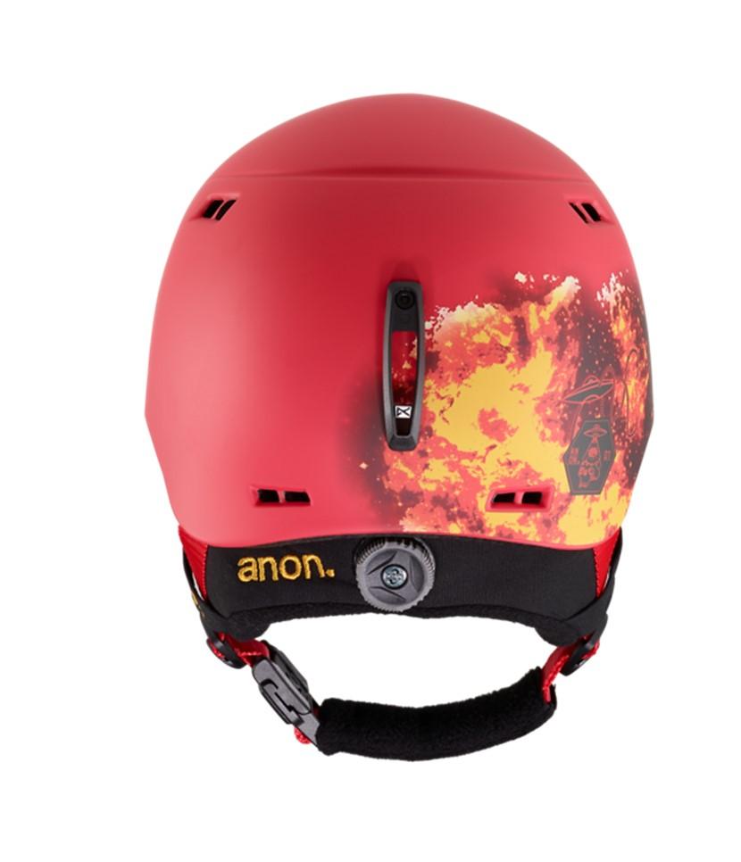 Anon Burner Black Kids Helmet Tinfoilhat-Red 3.