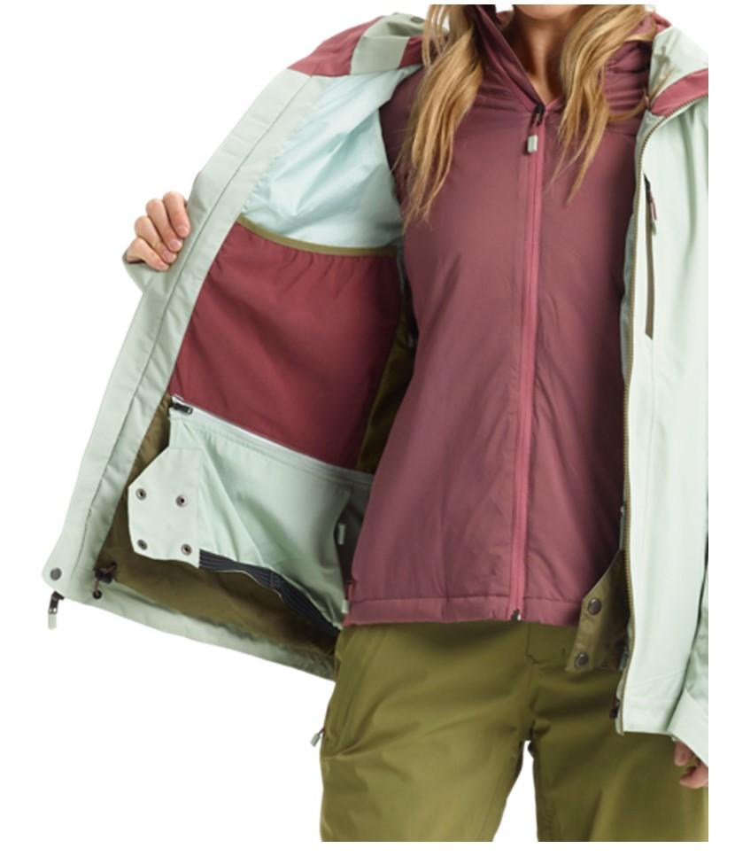 Burton AK Gore-Tex Upshft Jacket-Aqua Gray 3.