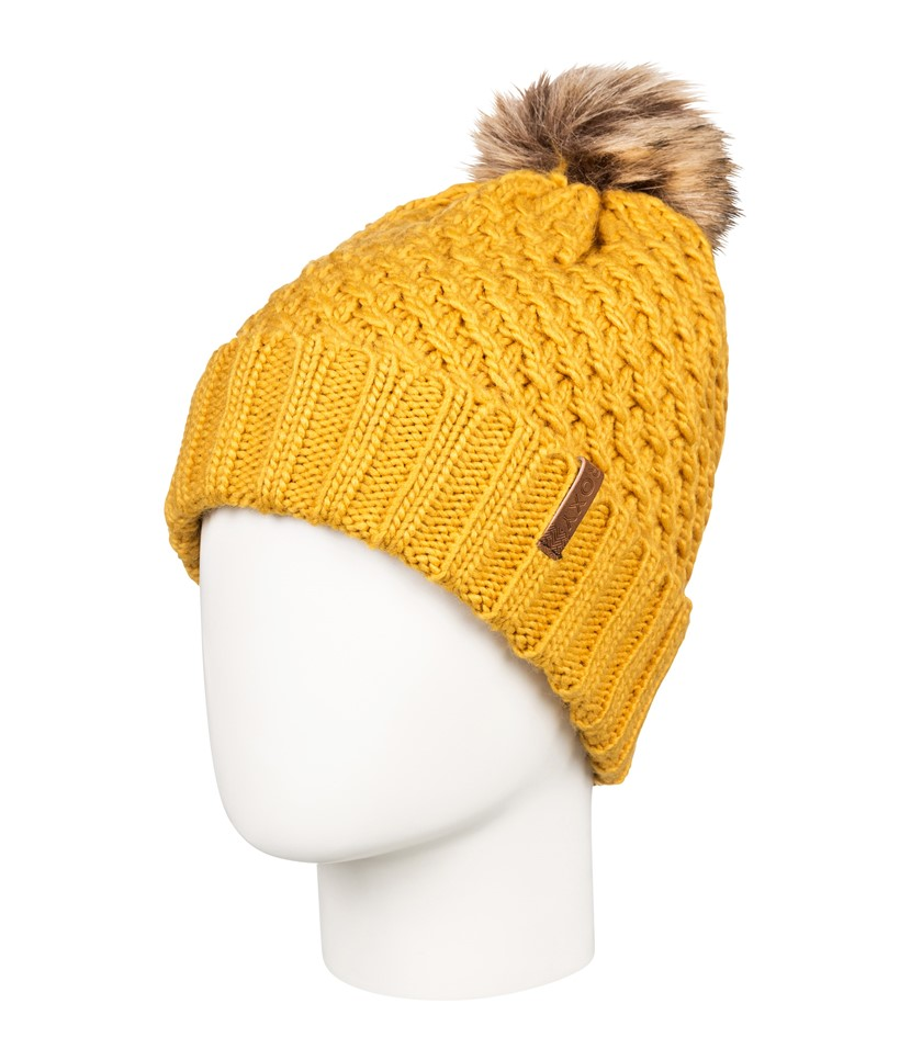 Roxy Blizzard Beanie-Spruce Yellow